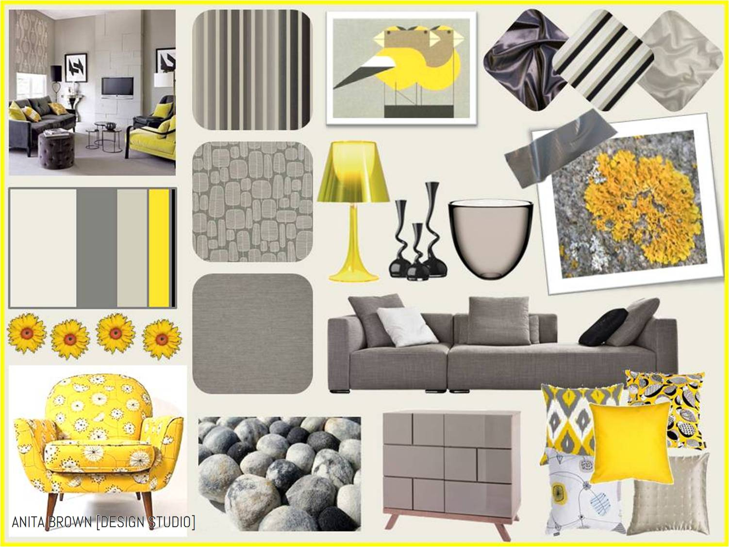 grey yellow the perfect combination - Contemporary Color Scheme