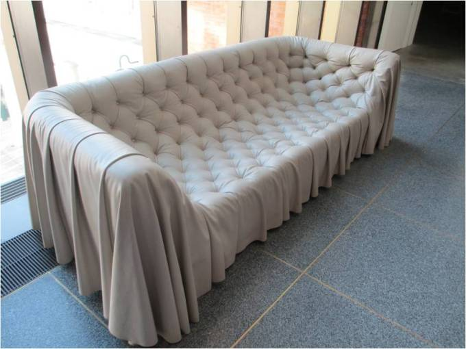 The Most Unique Leather Sofa I Have EVER Seen!