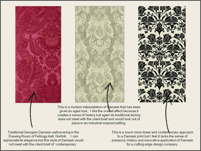 Damask Wallcoverings