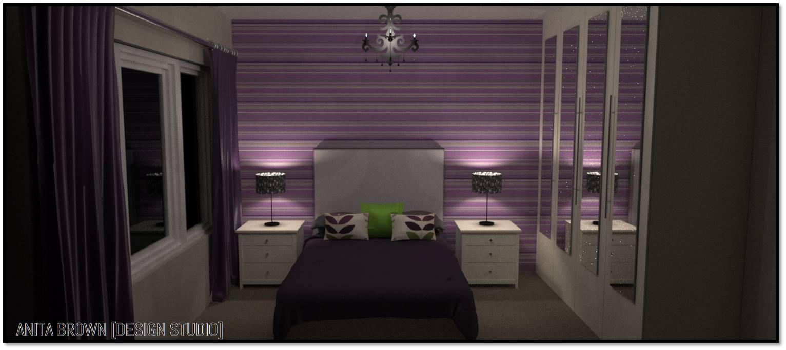 Brown and purple bedroom - Purple And Green 1