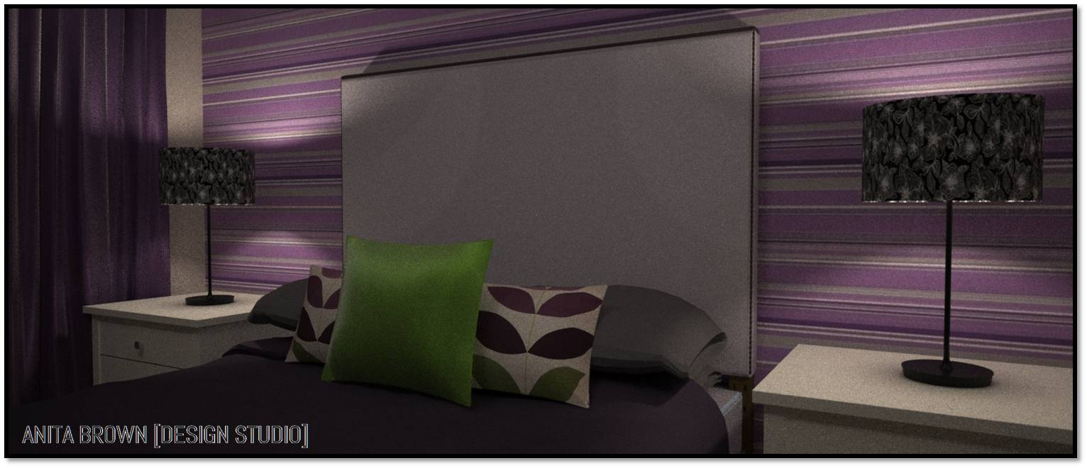 face the fear: purple and green | anita brown 3d visualisation