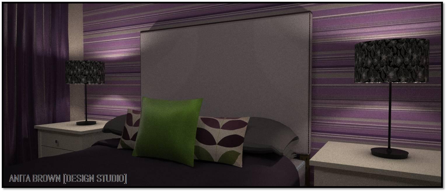 Purple And Brown Bedroom
