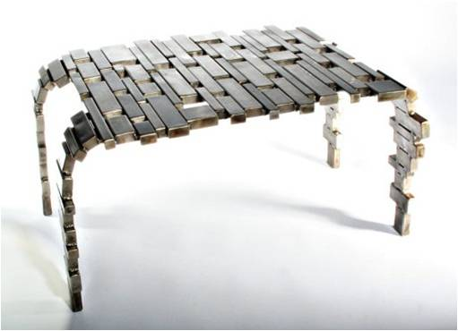 Upcycled Steel Table