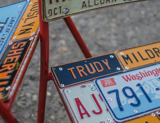 American Number Plate Chairs = Cool!