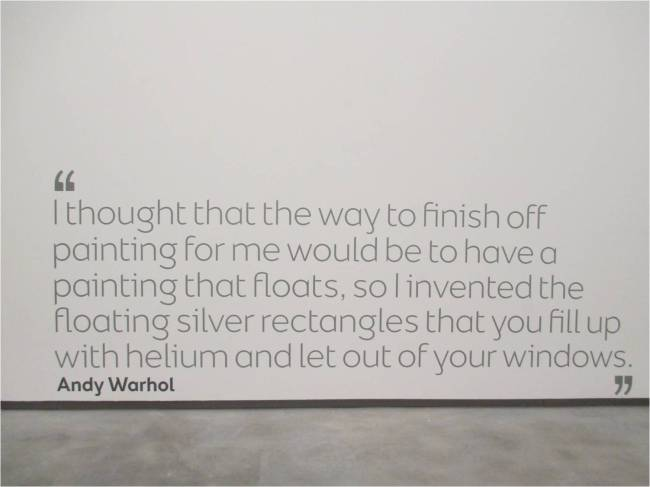 Andy Warhol Quote - Silver Floating Rectangles