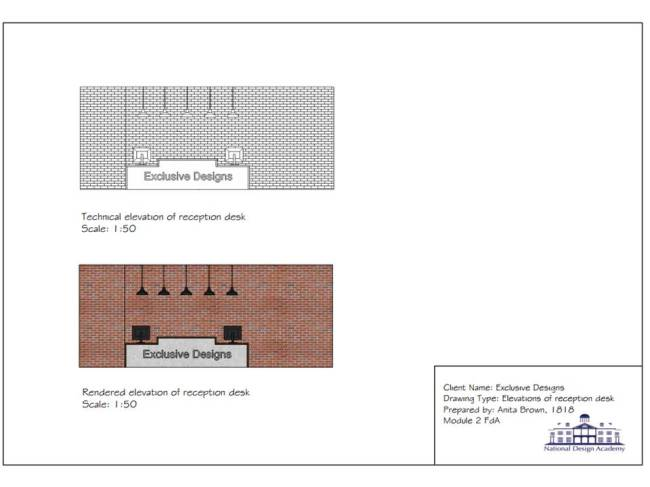 Reception Desk Elevation