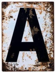 Distressed Metal Sign - Abigail Ahern