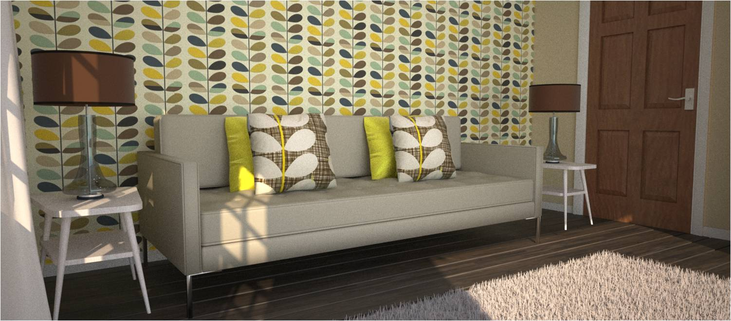 Orla Kiely Wallpaper Living Room Homebase Wallpaper