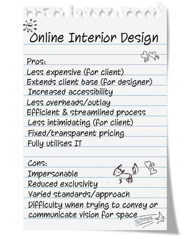 Pros and Cons Online Interior Design 1