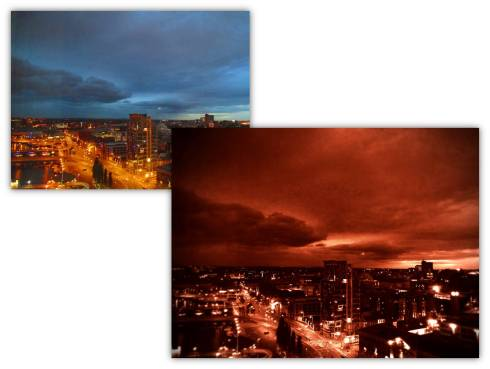 Belfast Skyline Edited Photoshop