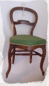 Antique French Balloon Back Chair