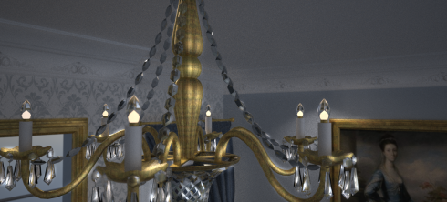 Georgian Chandelier 3D Visual Final