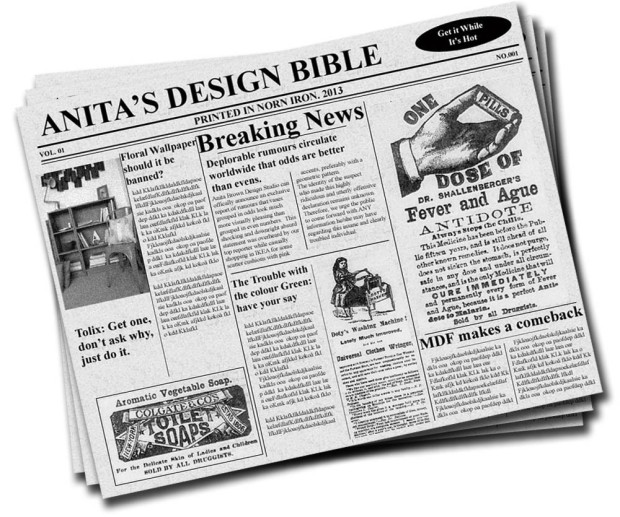 Newspaper Headline Anita Brown Design Studio Final