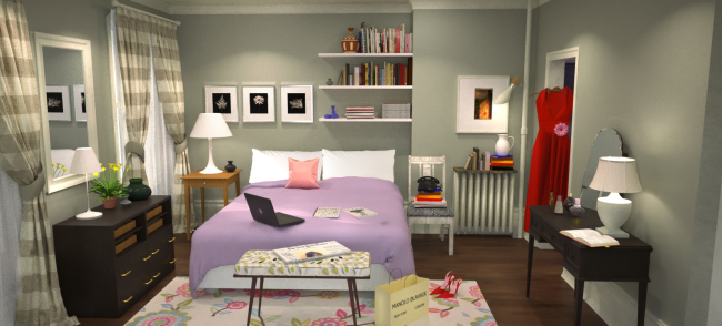 Sex and the City - Carrie's Bedroom Final II