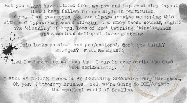 Typewriter font