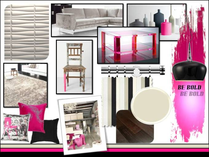 Pink and Black Concept Board