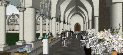 Westminster Abbey_Cloister - 3D Visual 1