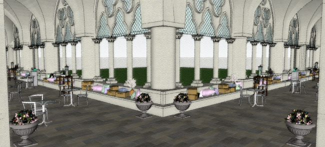 Westminster Abbey_Cloister - 3D Visual 2