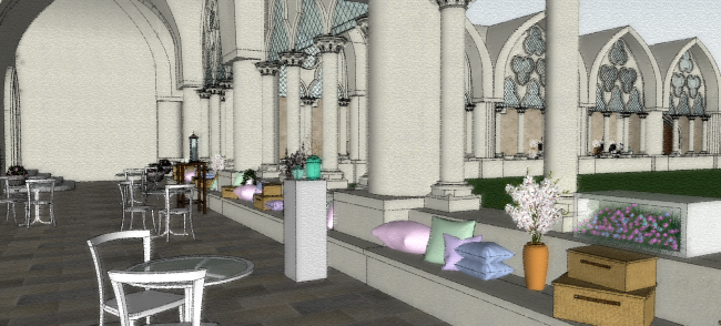 Westminster Abbey_Cloister - 3D Visual 3
