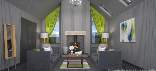 Final Fireplace Elevation Grey Scheme