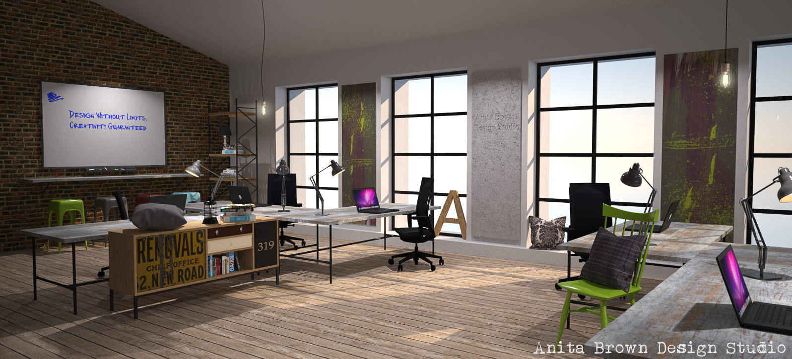Urban design is king anita brown 3d visualisation for Trendy office design