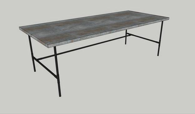 Industrial Inspired Office Desk