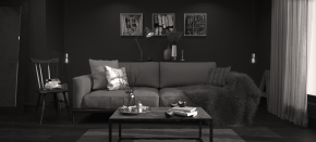 Autumn Inspired Interior B&W