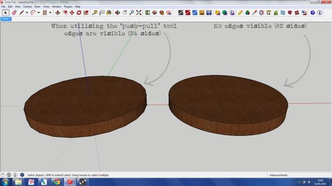 Cicrle Tool SketchUp 3