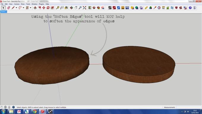Cicrle Tool SketchUp 4