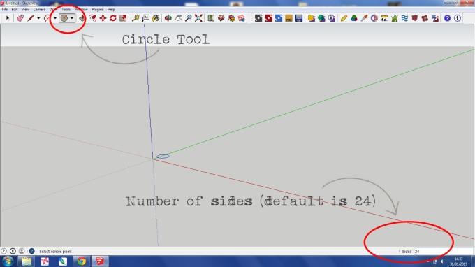 Circle Tool Sketchup 1