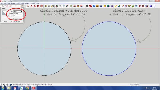 Circle Tool SketchUp 2