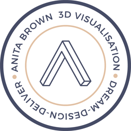Anita Brown 3D Logo