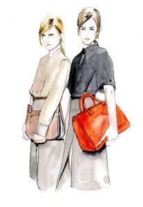 Caroline Andrieu Illustration Victoria Beckham