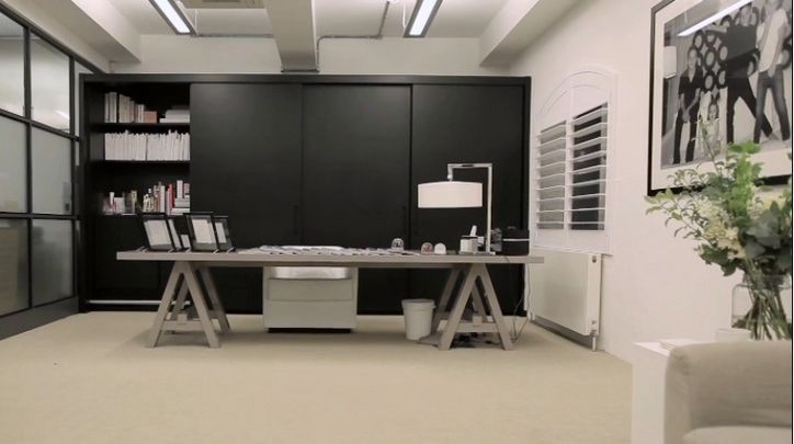 That time i redesigned victoria beckham s office anita for Office design victoria