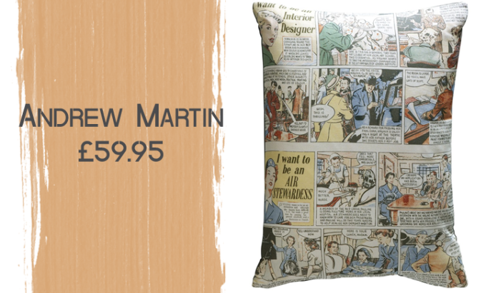 Andrew Martin Cartoon Strip Cushion