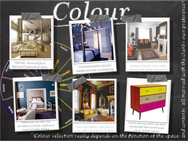 Colour Presentation Board Interior Design
