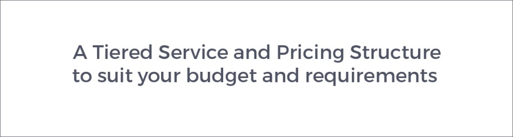 Tiered Service and Pricing Structure 3D Visualisation