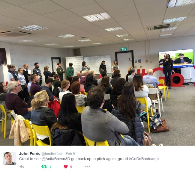 Entrepreneurial Spark Belfast Pitching