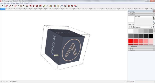 SketchUp 3D Text