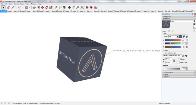 SketchUp Cube with Logo