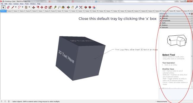 SketchUp Default Tray