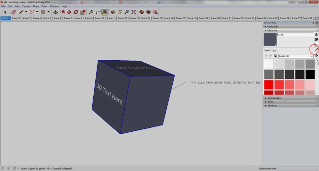 SketchUp Paint Bucket Tool