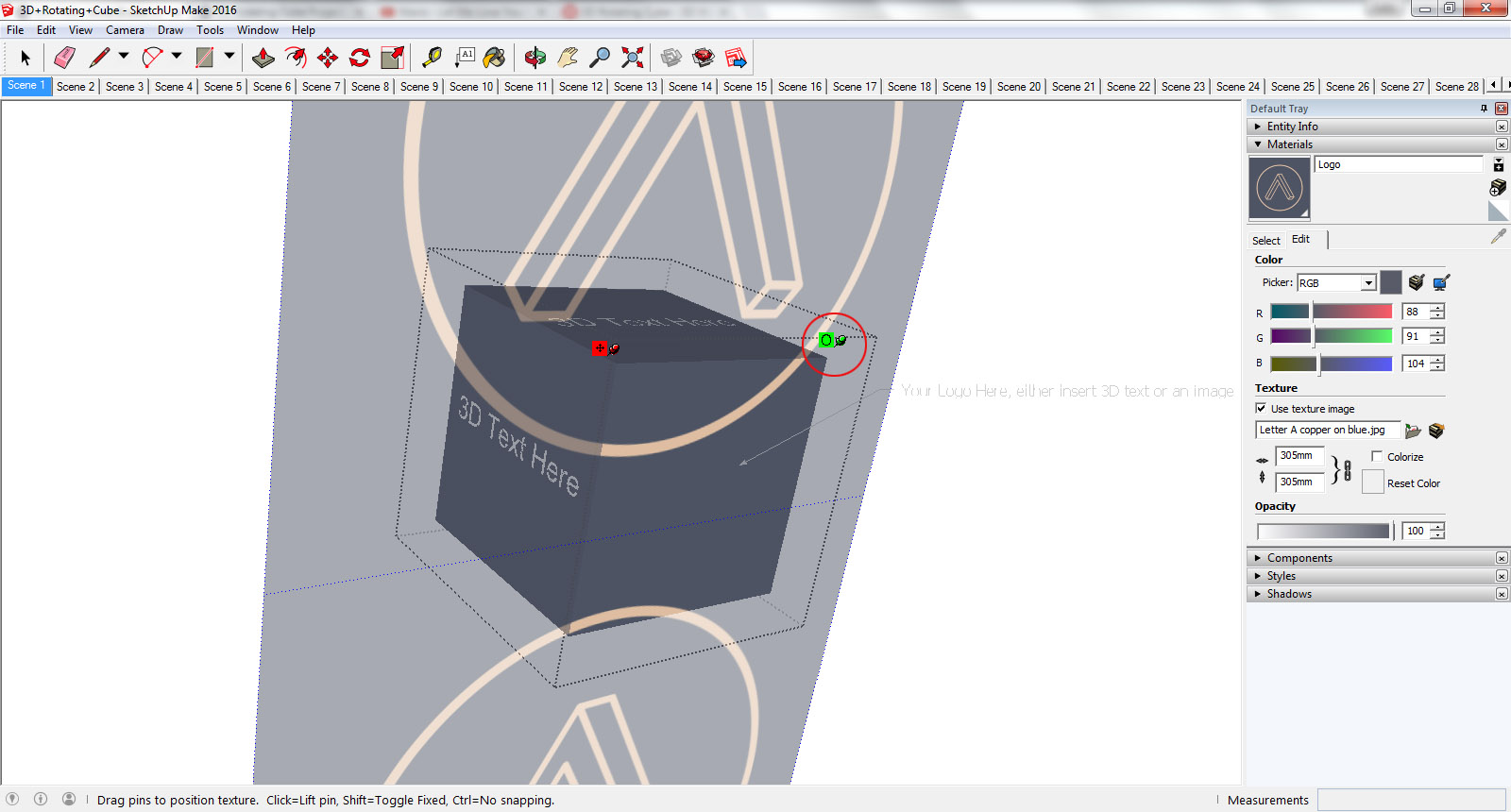 3D Rotating Cube Project Files and Tutorial | Anita Brown 3D