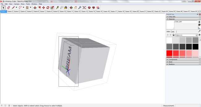 SketchUp Selecting 3D Text