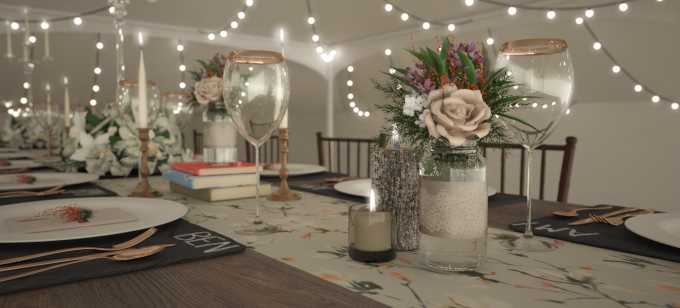 Spring Wedding 3D Visualisation