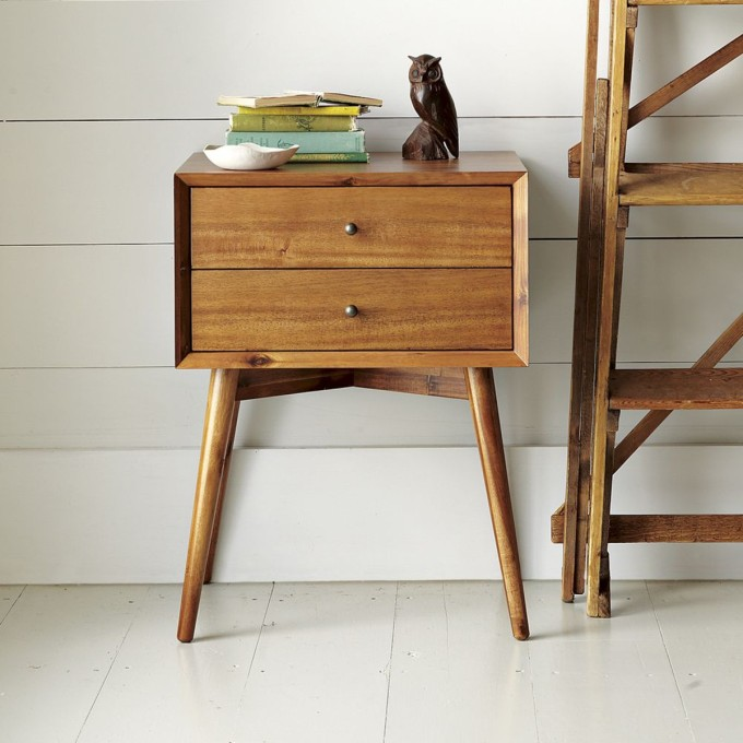 Mid-century Bedside Table West Elm